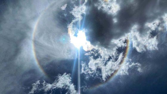 Un halo autour du Soleil visible dans le ciel de Maurice depuis ce lundi matin