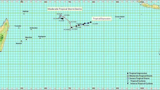 Météo : la tempête Danilo à 1 780 km de Maurice