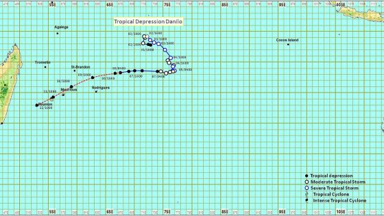 Météo : il est probable que Danilo traverse le nord de l'île Maurice dimanche soir, des rafales de 110 km/h attendues