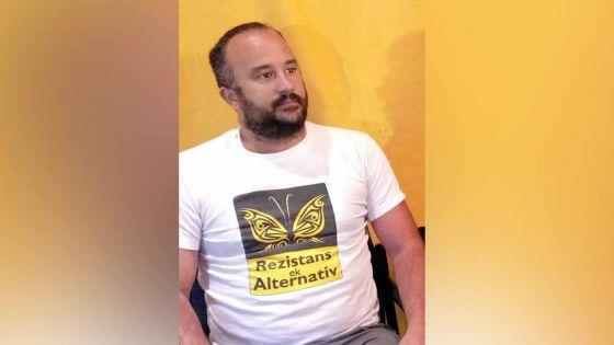 Arrestation de David Sauvage (Rezistans ek Alternativ) : « le peuple doit réfléchir avant de voter »