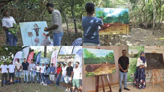 La campagne «Défi Vert - Plein Air» s'est terminée à l'île-aux-Aigrettes par une compétition de peintures