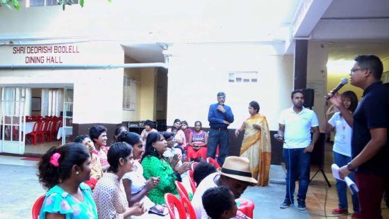 Coup de neuf à la salle rose de l'ashram Gayasingh