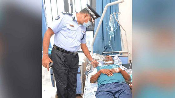 Renversé par une voiture dans l'exercice de ses fonctions : le sergent reçoit la visite du CP par intérim