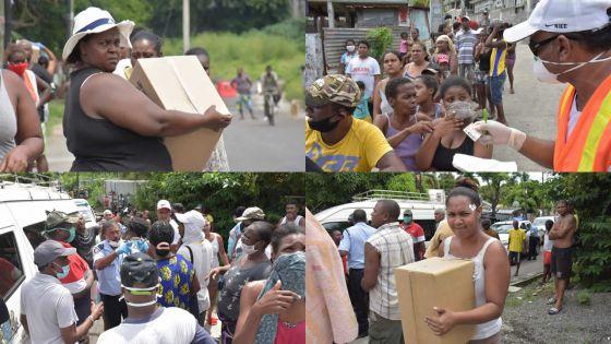 [En images] Total lockdown : distribution de vivres aux familles nécessiteuses