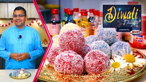Retour du chef Vivek sur TéléPlus : au menu de «Diwali Delights by Moir's», place au ladoo coco et choco