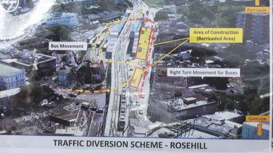 Metro Express : nouvelle configuration à la gare de Rose-Hill