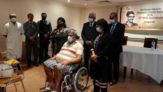 Hôpital Dr A. G. Jeetoo : don de trois fauteuils roulants par la haute commission du Bangladesh