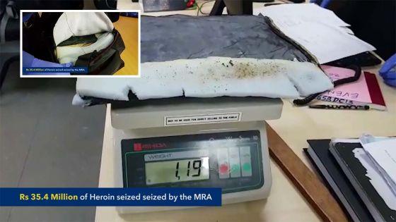 Drogue : 2 kg d'héroïne estimés à Rs 35 millions  saisis sur deux Sud-Africains à Maurice