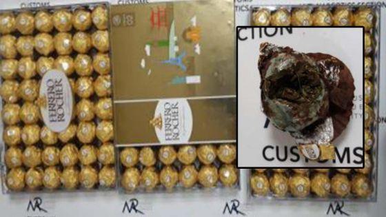 Un habitant de Phoenix avait caché Rs 1 M de cannabis dans des chocolats Ferrero Rocher