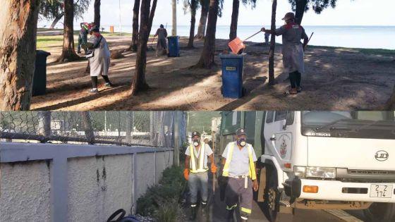 Covid-19 : pas de repos pour les « soldats de la propreté » du pays