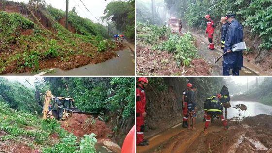 Éboulement de terre à Petit-Bel-Air : la route obstruée presque déblayée