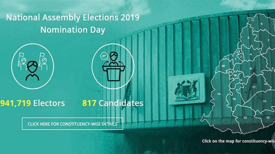 Nomination Day : 817 candidats inscrits pour les législatives 2019, soit 78 de plus qu'en 2014