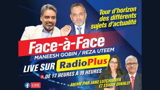 Sur Radio Plus cet après-midi : face-à-face Maneesh Gobin/Reza Uteem