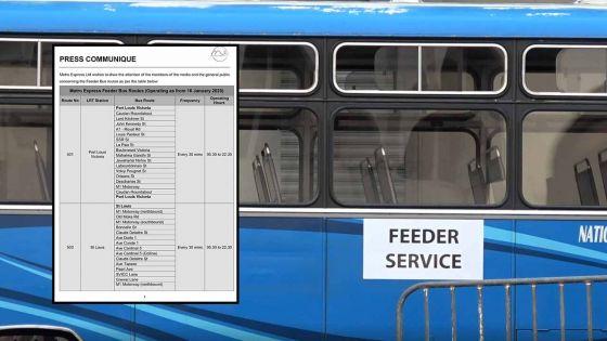 [Document] Metro Express : voici les endroits où vous pouvez prendre les Feeder Buses
