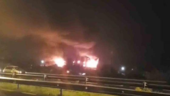 Incendie dans une usine à Union Park