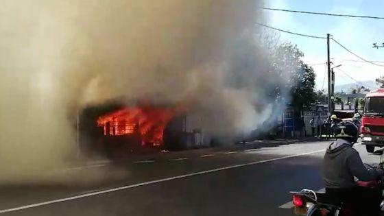 Sainte-Croix : incendie dans un atelier