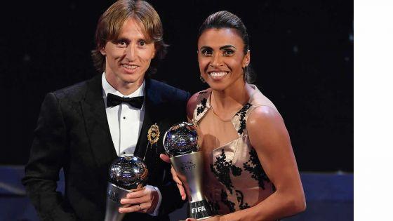 Luka Modric et Marta couronnés.