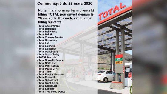 Carburants et gaz : 23 stations serviceTotal ouvertes de 9 h à midi ce dimanche