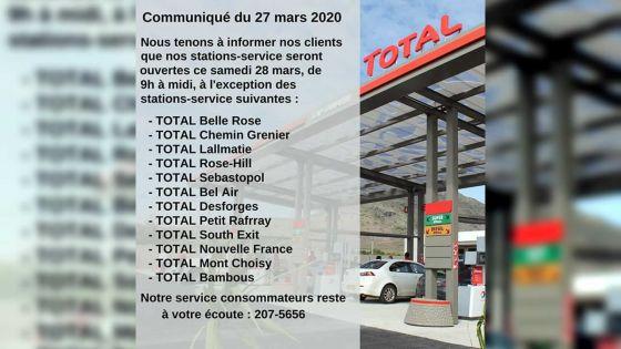 12 stations-service Total fermées le samedi 28 mars