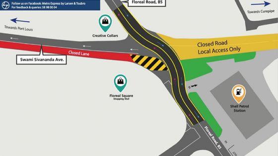 Metro Express phase 2 : travaux à Floréal , déviation prévue