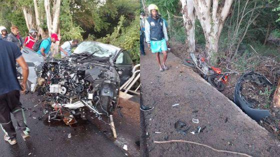 Gros-Cailloux : un motocycliste grièvement blessé dans un accident