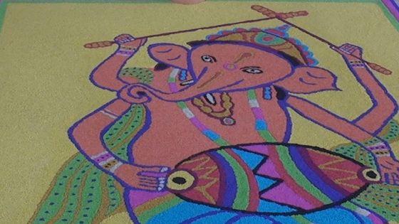 Ganesh Chaturthi : un «rangoli» en l'honneur du dieu à la tête d'éléphant
