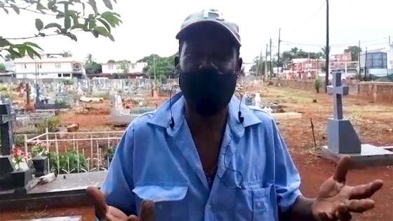Confinement : «Ena dimoun ki pa travay li marse», déplore Paul le fossoyeur