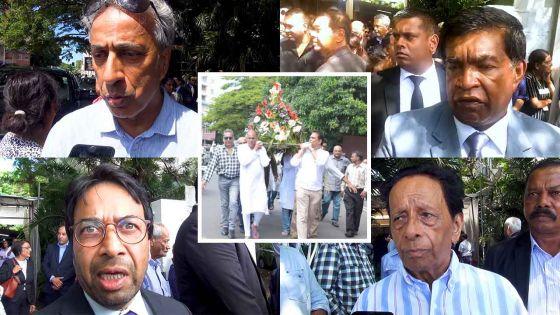 Funérailles du juge Bobby Madhub : SAJ, le DPP, Pradeep Roopun et Arvin Boolell lui rendent un vibrant hommage