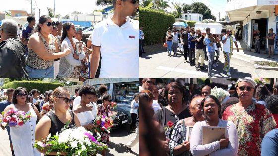 [En images] Tuée par son époux : des adieux émouvants pour Dorinne Phokeerdass