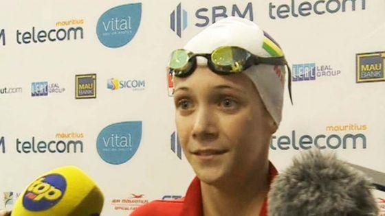 JIOI – Natation : la Mauricienne Ines Gebert, 15 ans, remporte l'or au 200m papillon