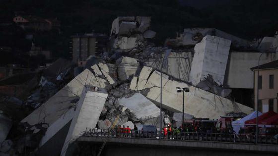 Italie : une quarantaine de morts après l'effondrement du pont autoroutier