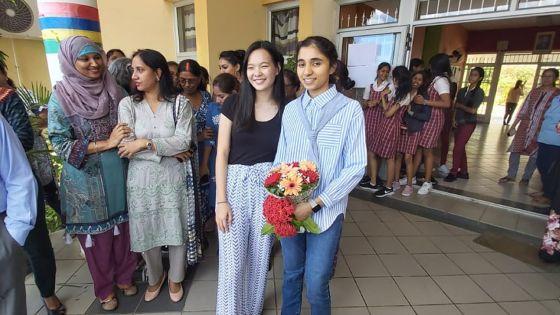 HSC 2019 : voici la réaction d'Eugénie Lin Zi Lam Cham Kee, l'une des deux lauréates du Collège GMD Atchia