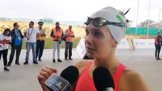 JIOI - Natation : Ines Gebert remporte l'argent pour Maurice