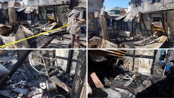 [En images] Incendie à Cassis : deux maisons en tôle ravagées, trois familles dont 12 enfants ont tout perdu