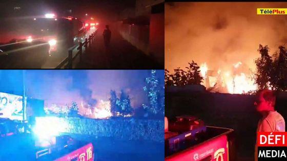 Route Militaire, Plaine-Verte : un atelier et un camion détruits dans un incendie