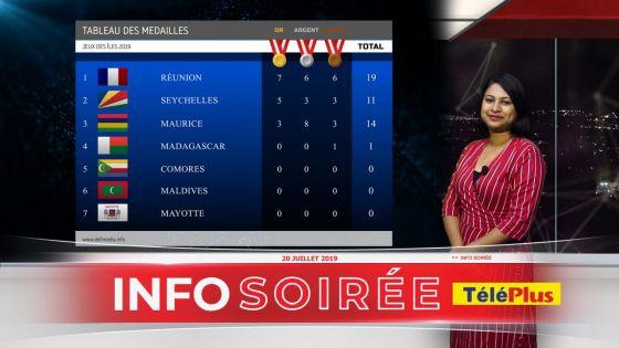 [Info Soirée] Tableau des médailles pour les JIOI 2019 – Maurice perd sa deuxième place