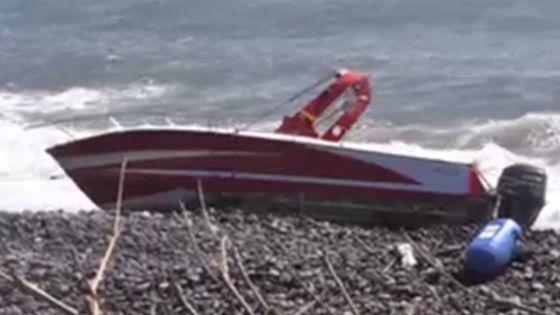 La Réunion : un bateau retrouvé échoué sur la côte de St- Benoît