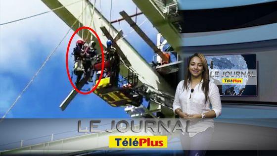 Le JT – Ouvrier suspendu à 15 mètres du sol secouru par les pompiers