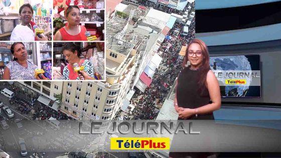 Le JT: une grosse affluence pour le shopping de Noël à Port Louis provoque des embouteillages monstres et des déviations