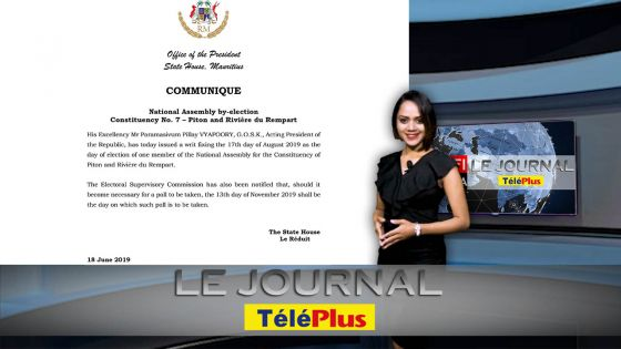 Le JT - No 7 : le «Writ» émis, l'élection partielle fixée au 13 novembre