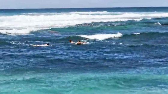 Roches-Noires : trois jeunes sur leur planche à surf font fi des consignes