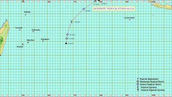 Météo : la dépression tropicale s'est intensifiée en une tempête tropicale modérée et a été baptisée Alicia