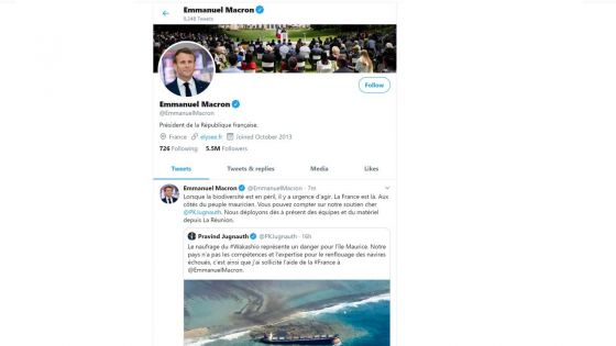 Emmanuel Macron : «Vous pouvez compter sur notre soutien, cher Pravind Jugnauth»