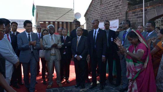 [Images] Fête nationale : le président malgache accueilli par des danses folkloriques à l'Aapravasi Ghat