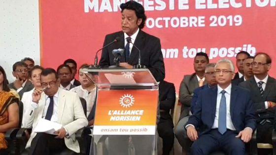 Suivez en live la présentation du manifeste électoral de l'Alliance Morisien