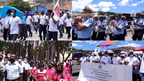 Des citoyens mobilisés pour la marche pacifique pour la sécurité routière