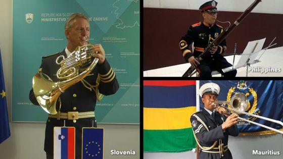 Le Mauritius Police Band collabore avec 26 pays pour un hommage aux frontliners en musique