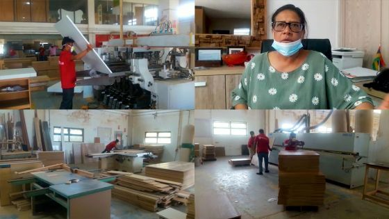 Maya Sewnath, femme d'affaires : les locaux de son entreprise lui servent aussi de maison en confinement