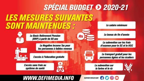 Budget 2020-21 : le boni de fin d'année, la pension, et les subventions des examens maintenus