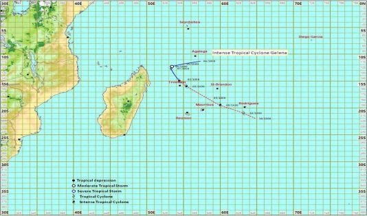 Maurice et Rodrigues en alerte 2 : Gelena s'approche davantage de notre région